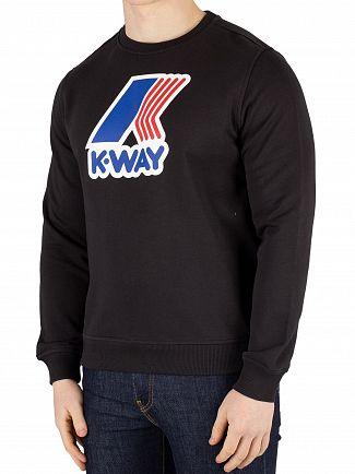 K-Way Black Augustine Macro Slim Sweatshirt