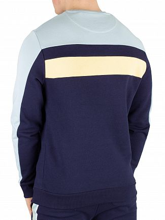 Lyle & Scott Navy Colour Block Sweatshirt