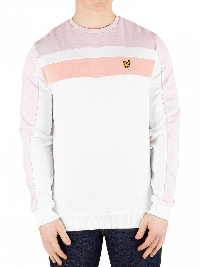 Lyle & Scott White Colour Block Sweatshirt
