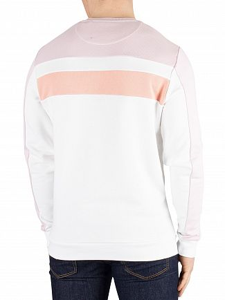 Lyle & Scott White Colour Block Sweatshirt