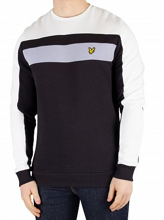 Lyle & Scott True Black Colour Block Sweatshirt