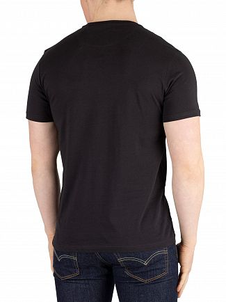 Lyle & Scott True Black Fabric Mix T-Shirt