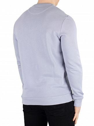 Lyle & Scott Cloud Blue Flock Logo Sweatshirt
