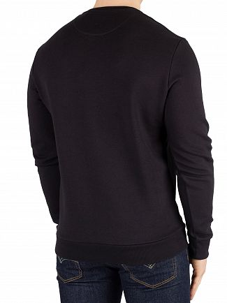 Lyle & Scott True Black Flock Logo Sweatshirt
