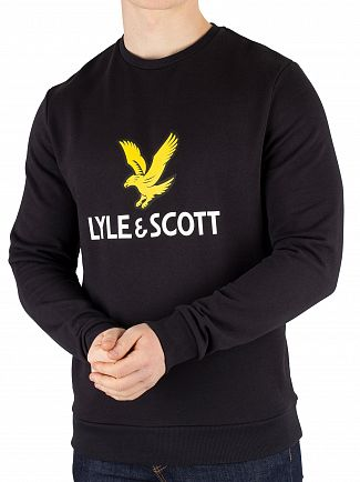 Lyle & Scott True Black Graphic Sweatshirt