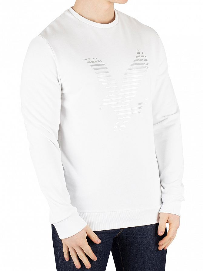 Lyle & Scott White Graphic Sweatshirt