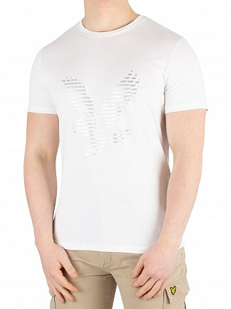 Lyle & Scott White Graphic T-Shirt