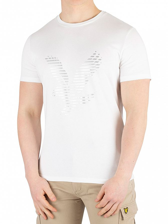 Lyle & Scott White Graphic T-Shirt