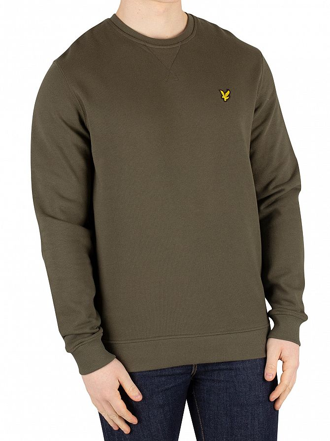 Lyle & Scott Dark Sage Logo Sweatshirt