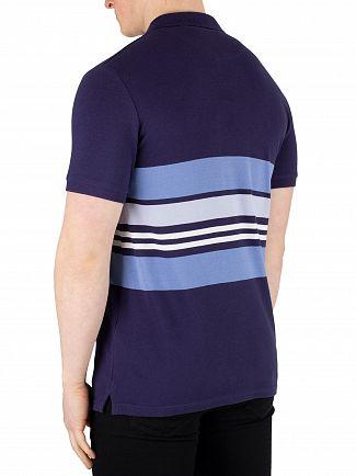 Lyle & Scott Navy Pique Stripe Poloshirt