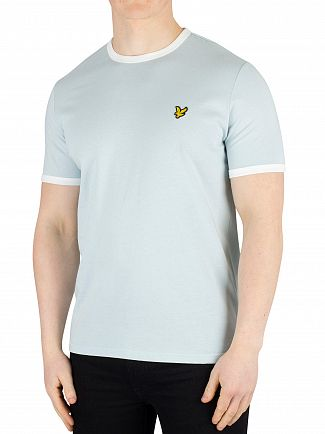 Lyle & Scott Blue Shore/Snow White Ringer T-Shirt