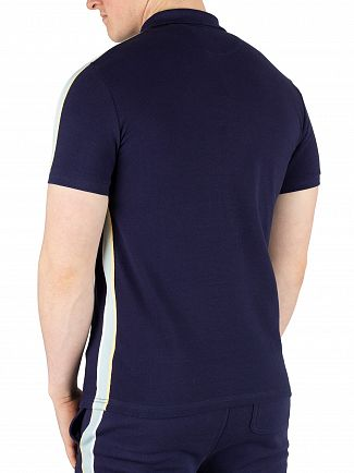 Lyle & Scott Navy Side Stripe Poloshirt