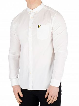 Lyle & Scott White Side Stripe Shirt