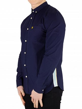 Lyle & Scott Navy Side Stripe Shirt