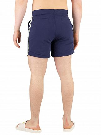 Lyle & Scott Navy Side Stripe Swimshorts