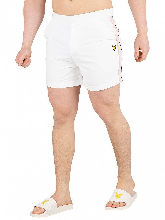 Lyle & Scott White Side Stripe Swimshorts