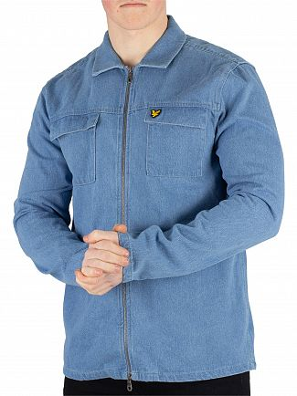 Lyle & Scott Light Blue Summer Overshirt