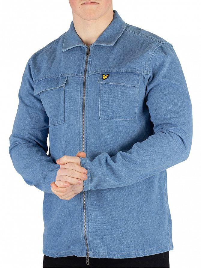 Lyle & Scott Light Blue Summer Overshirt