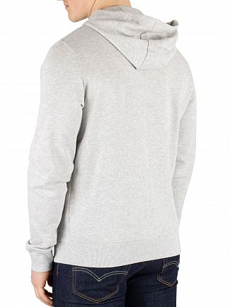 Lyle & Scott Light Grey Marl Zip Hoodie