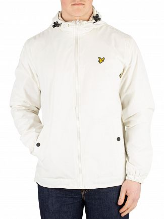 Lyle & Scott Snow White Zip Though Hooded Jacket