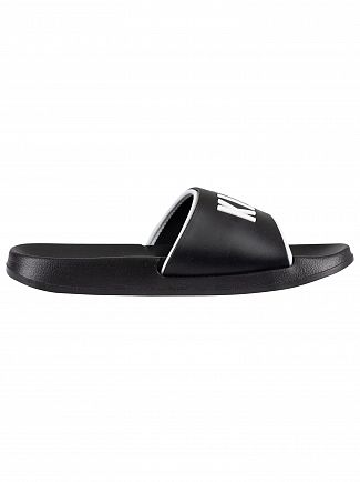Calvin Klein Black/White Pool Sliders