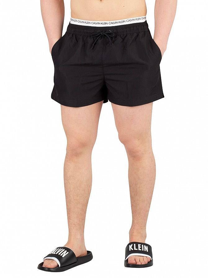 Calvin Klein Black Short Double Waistband Swim Shorts