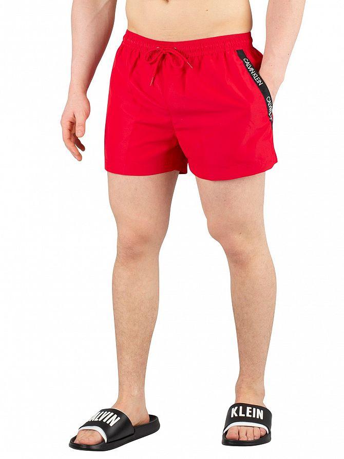 Calvin Klein Lipstick Red Short Drawstring Swim Shorts