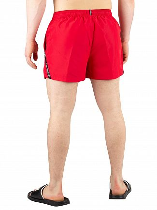 Calvin Klein Lipstick Red Short Drawstring Swim Shorts