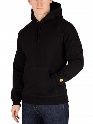 Carhartt WIP Black/Gold Chase Pullover Hoodie