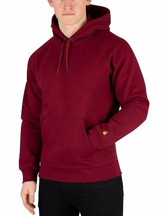 Carhartt WIP Cranberry/Gold Chase Pullover Hoodie