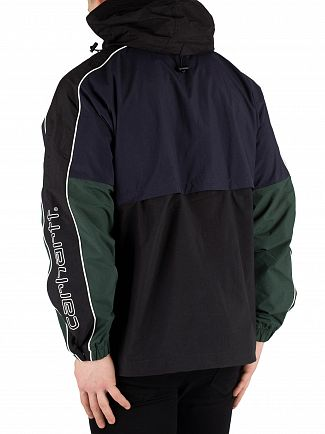 Carhartt WIP Dark Navy/Black/Bottle Green Terrace Pullover Jacket