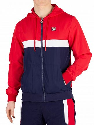 Fila Chinese Red/Peacoat/White Ambrose Colour Block Jacket