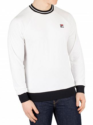 Fila White/Black Cosmo Embossed Velour Sweatshirt