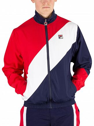 Fila Red/Peacoat/White Cruz Archive Windbreaker Jacket
