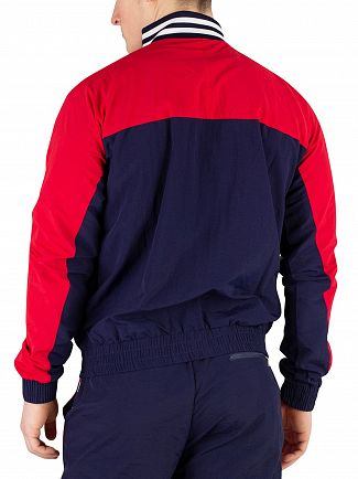 Fila Peacoat/Chinese Red/White Diego Panelled Track Jacket