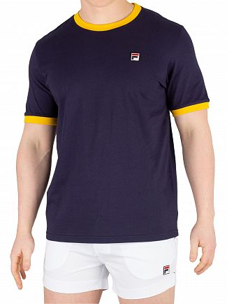 Fila Peacoat/Gold Fusion Essential Ringer T-Shirt