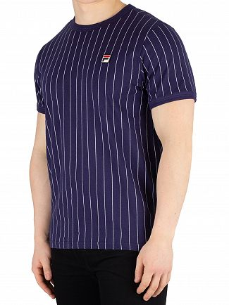 Fila Vintage Peacoat/White Guilo Stripe T-Shirt