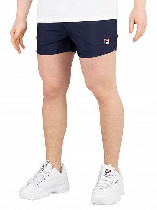 Fila Peacoat/Chinese Red/White Hightide Terry Pocket Stripe Sweatshorts