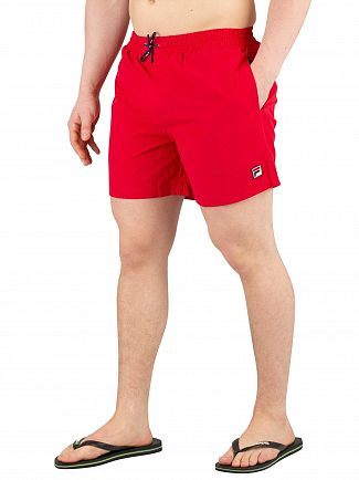 Fila Vintage Chinese Red Martin Basic Swimshorts