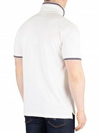 Fila Vintage White Matcho Tipped Rib Poloshirt
