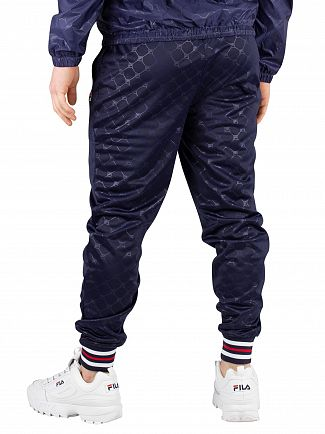 Fila Peacoat Mitchell Embossed Cuffed Joggers