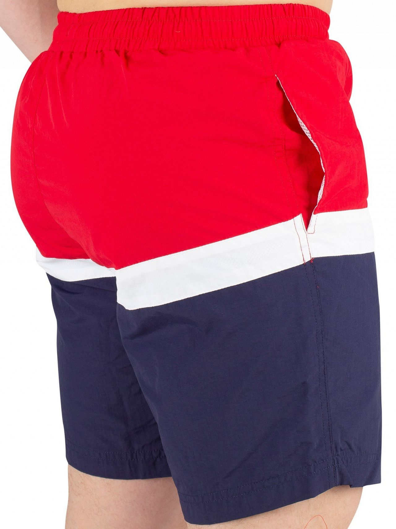 3a5eedfb5f Fila Chinese Red Peter Colour Block Swimshorts | Standout