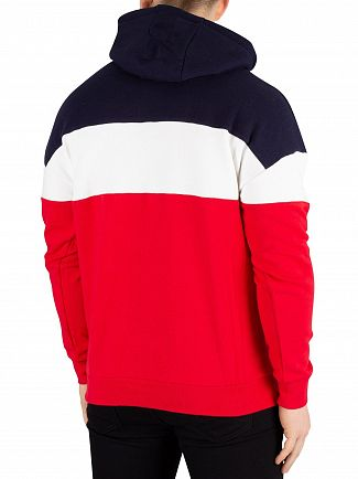 Fila Peacoat Rayton Colour Block Pullover Hoodie