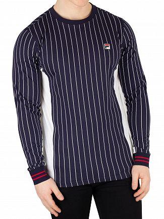 Fila Peacoat/White Settanta Longsleeved T-Shirt
