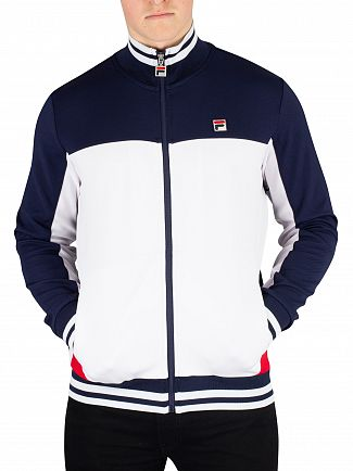 Fila White/Peacoat/Chinese Red Tiebreaker Funnel Neck Track Jacket