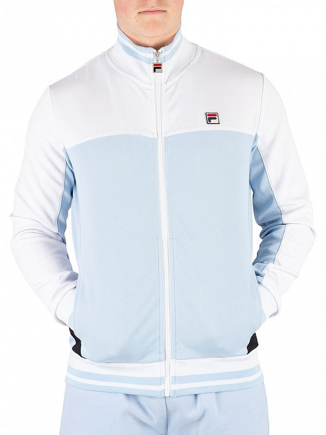 Fila Vintage Cashmere Blue/White/Black Tiebreaker Funnel Neck Track Jacket