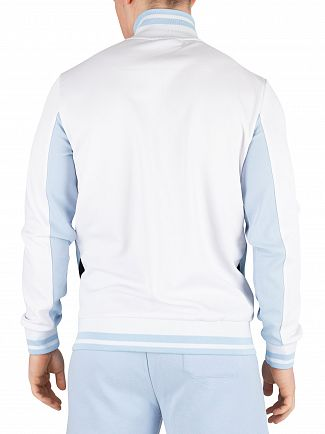 Fila Cashmere Blue/White/Black Tiebreaker Funnel Neck Track Jacket