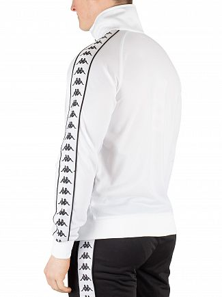 Kappa White/Black 222 Banda Anniston Track Top