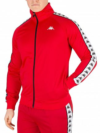 Kappa Red/White/Black 222 Banda Anniston Track Top