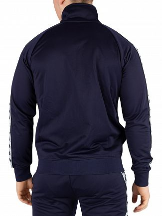 Kappa Blue Marine/White/Black 222 Banda Anniston Track Top